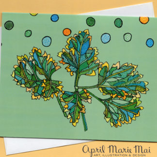 Parsley Leaf Card Front