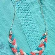 Blue and Coral Necklace