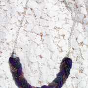 Purple Braid Necklace