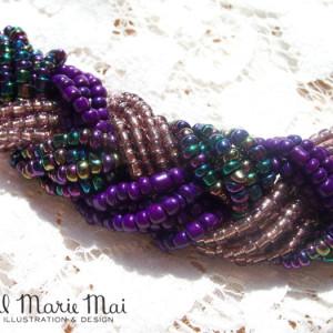 Purple Braid Necklace Detail