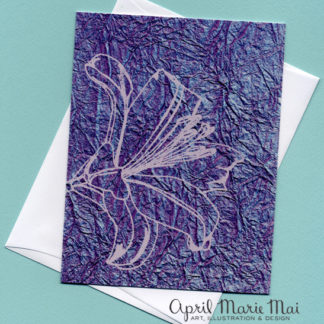 Purple Lily Card Front
