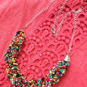 Rainbow Confetti Necklace