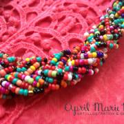 Rainbow Confetti Necklace Close Up