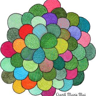 Petal Cluster by April Marie Mai