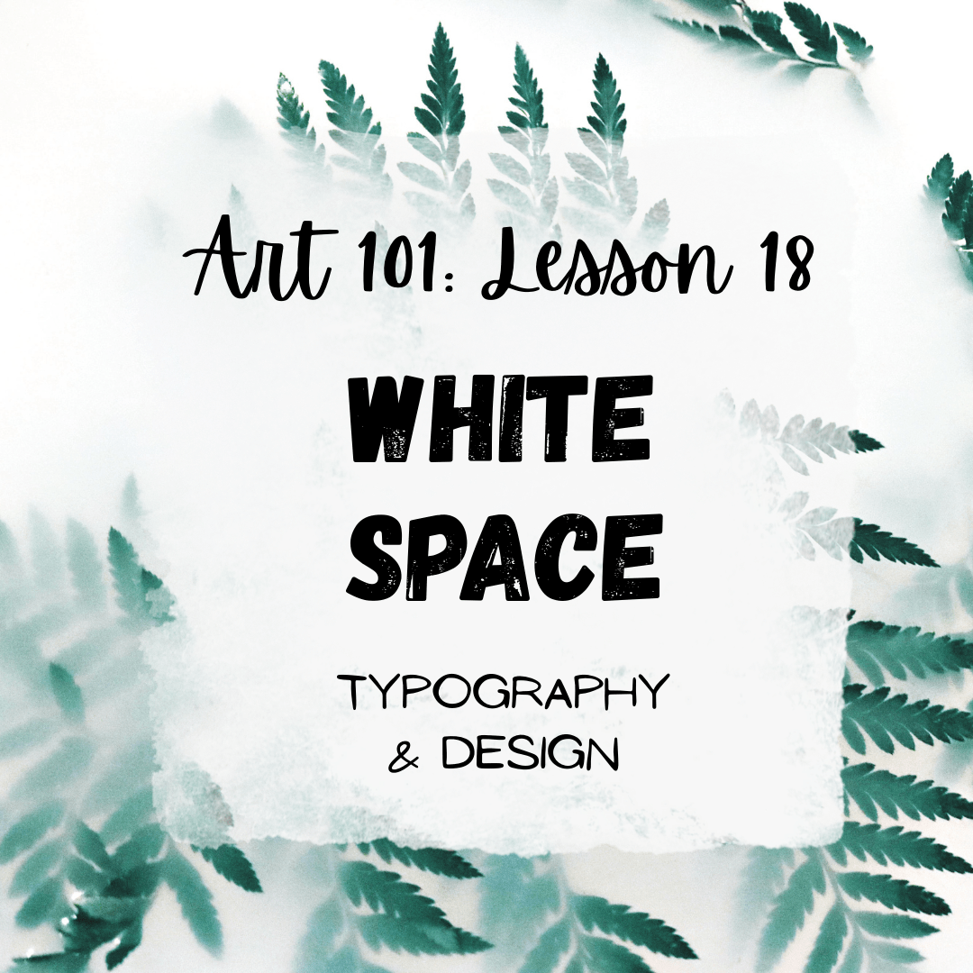White Space in Art with Typography & Design (Canva)